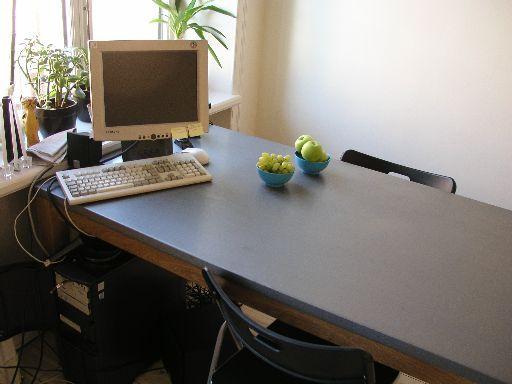 Matbordet på plats