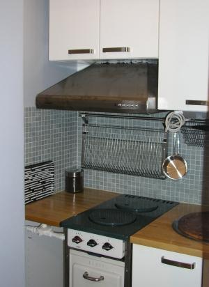 Grå väggar i köket