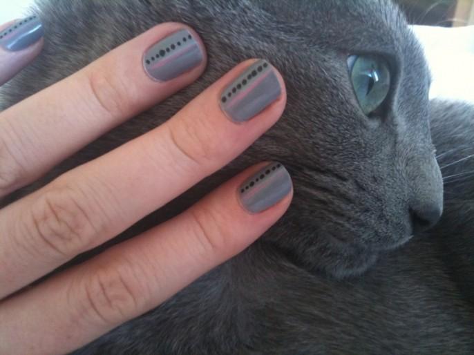 Matchar nagellacket med katten
