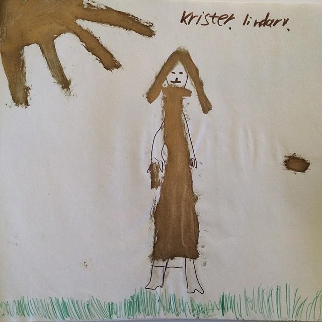 Har gått igenom alla mina teckningar från barndomen. Vad sägs t ex om en guldig #ChristerLindarw?