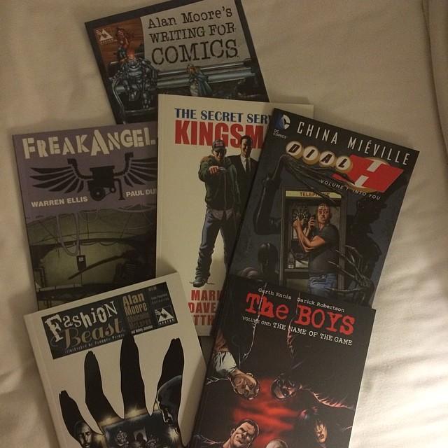 Shoppat rejält med nya serier ikväll. #comics #britishlibrary