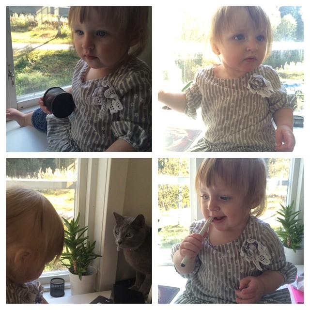 Idag blir Ada 9 månader. Världens bästa lilla tjej. #adabebisen