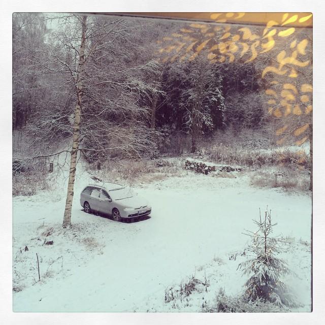 Det snöar här. #snow