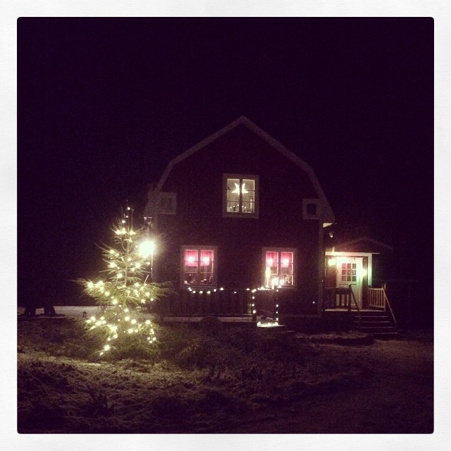 Nu är det jul här i vårt hus!