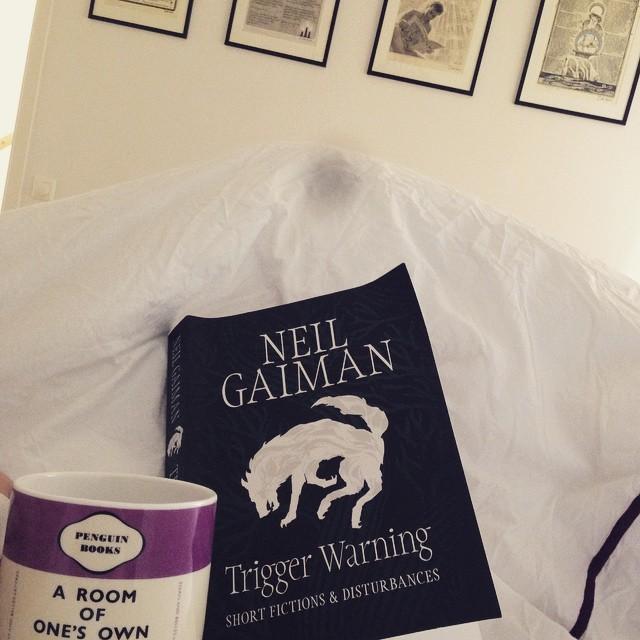 Ny Neil Gaiman-bok, kaffe och en rejäl natts sömn gör att lördagen börjar riktigt bra.